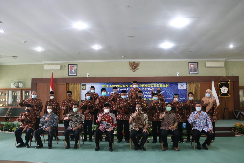 pengurus DPD LPM bersama Bupati