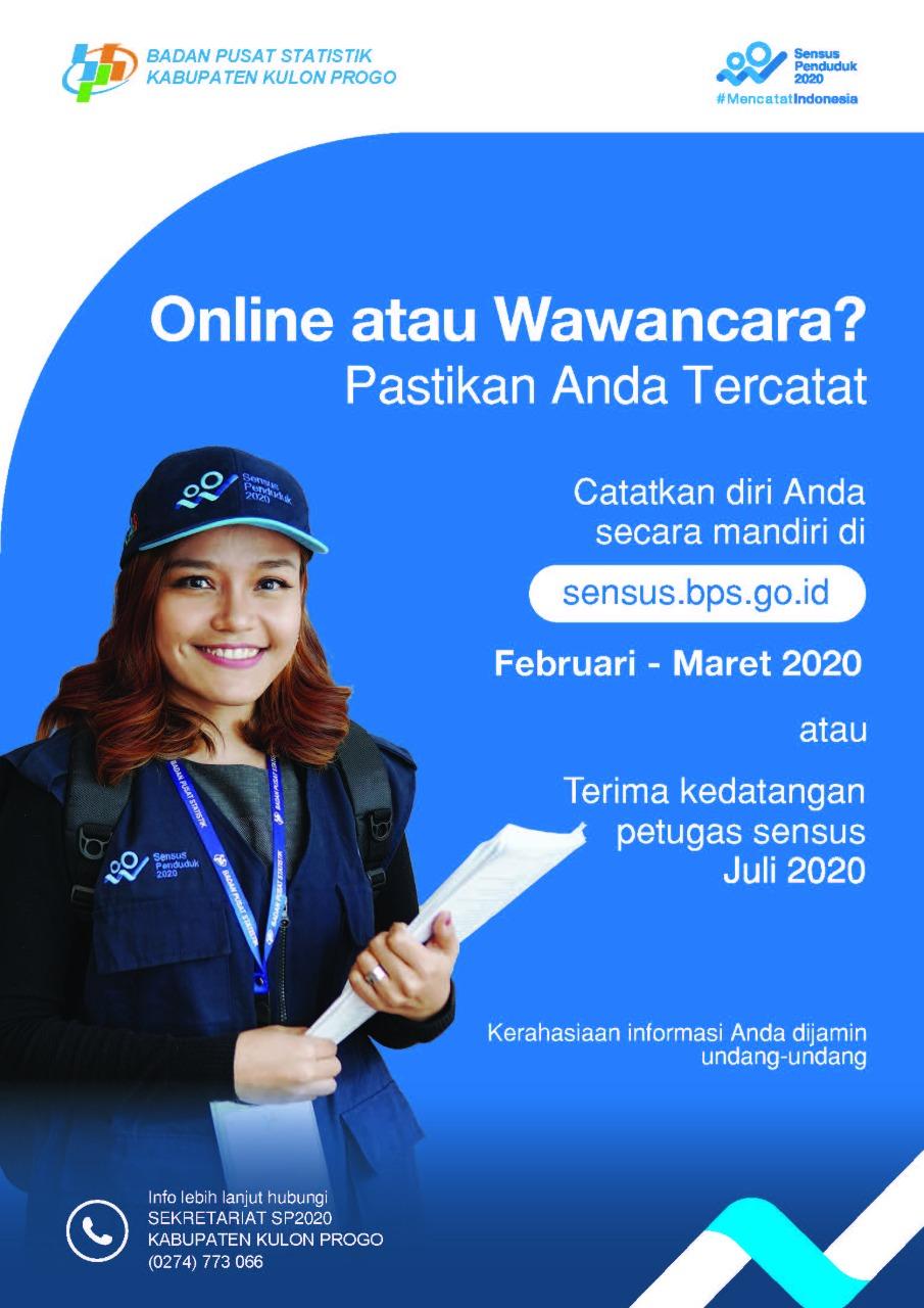 Pemkab Sensus Penduduk 2020 Dilakukan Secara Online